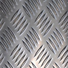 Лист алюминиевый рифленый Квинтет 4,0х1000х2000 мм