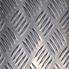 Лист алюминиевый рифленый Квинтет 1,0х1000х2000 мм