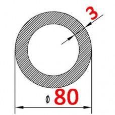 Труба алюминиевая 80х3 б.п. круглая