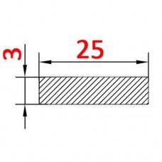 Алюминиевая полоса 25х3 б.п.