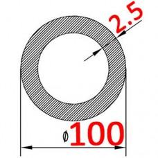 Труба алюминиевая 100х2.5 б.п. круглая