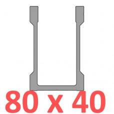 Сполучне кріплення пряме труби 80 х 40