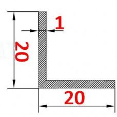 Уголок алюминиевый 20х20х1 AS