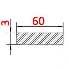 Алюминиевая полоса 60х3 AS