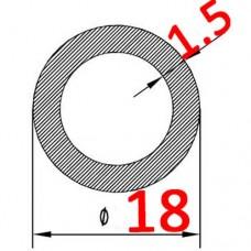 Алюминиевая труба круглая 18х1.5 без покрытия