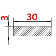 Алюминиевая полоса 30х3 б.п.