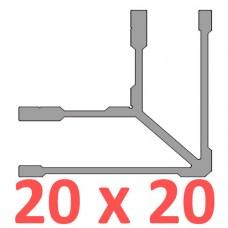 Сполучне кріплення кутове труби 20х20