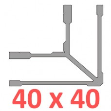 Сполучне кріплення кутове труби 40х40