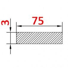 Алюминиевая полоса 75х3 б.п.