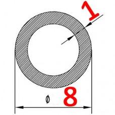 Труба алюминиевая 8х1 б.п. круглая
