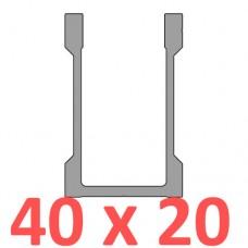 Сполучне кріплення пряме труби 40х20