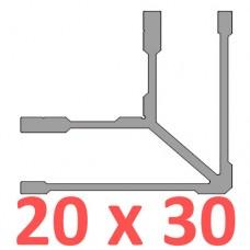 Сполучне кріплення кутове труби 20х30