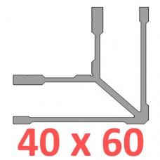 Сполучне кріплення кутове труби 60х40
