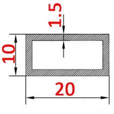 Труба алюминиевая 20х10х1.5 б.п. прямоугольная
