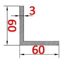 Уголок алюминиевый 60х60х3 б.п.