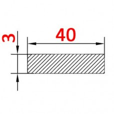 Алюминиевая полоса 40х3 б.п.
