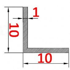 Уголок алюминиевый 10х10х1 AS