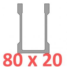 Сполучне кріплення пряме труби 80х20