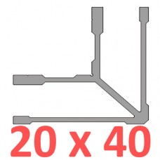 Сполучне кріплення кутове труби 20х40