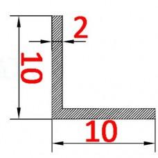 Уголок алюминиевый 10х10х2 б.п.