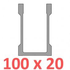 Сполучне кріплення пряме труби 100х20