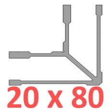 Сполучне кріплення кутове труби 80х20