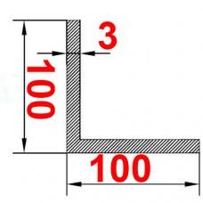 Уголок алюминиевый 100х100х3 б.п.