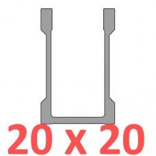 Сполучне кріплення пряме труби 20х20