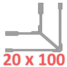 Сполучне кріплення кутове труби 100х20