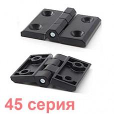 Алюминиевая петля черная 45 серия