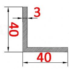 Уголок алюминиевый 40х40х3 AS