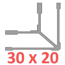 Сполучне кріплення кутове труби 30х20