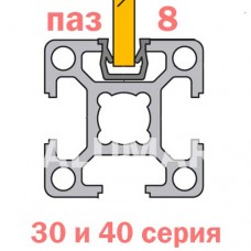Уплотнитель для стекла паз 8