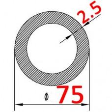 Труба алюминиевая 75х2.5 б.п. круглая