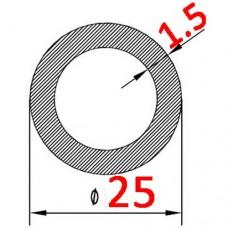 Труба алюминиевая 25х1.5 AS круглая