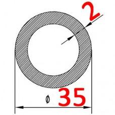 Труба алюминиевая 35х2 б.п. круглая