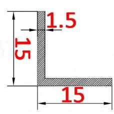 Уголок алюминиевый 15х15х1.5 AS