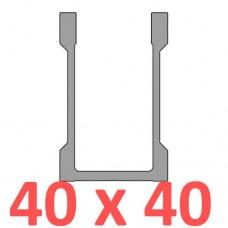 Сполучне кріплення пряме труби 40х40