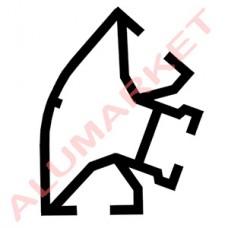 Алюмінієвий профіль 3084 для торгових вітрин