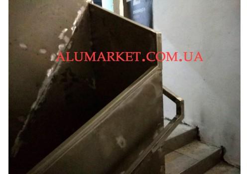 обшивка лестницы металлом